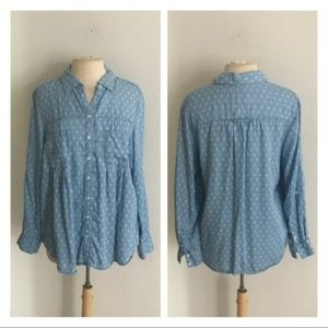 Style & Co chambray button down